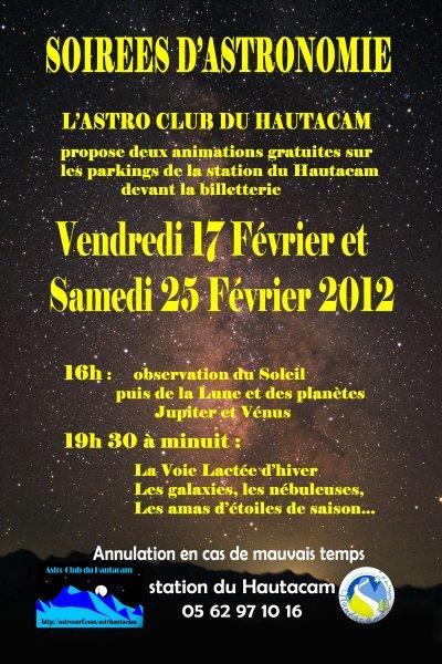 17 et 25 FEVRIER : OBSERVATIONS au HAUTACAM