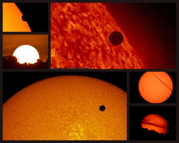 TRANSIT DE VENUS - 6 juin 2012 - Retour en images