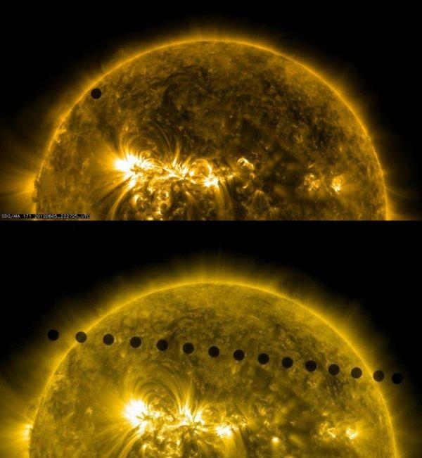 TRANSIT DE VENUS - 6 juin 2012 - Images du satellite spatial SDO