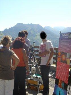 OBSERVATIONS du SOLEIL au PIC du JER, de 14h30 à 17h30, du lundi 6 au vendredi 10 Août 2012