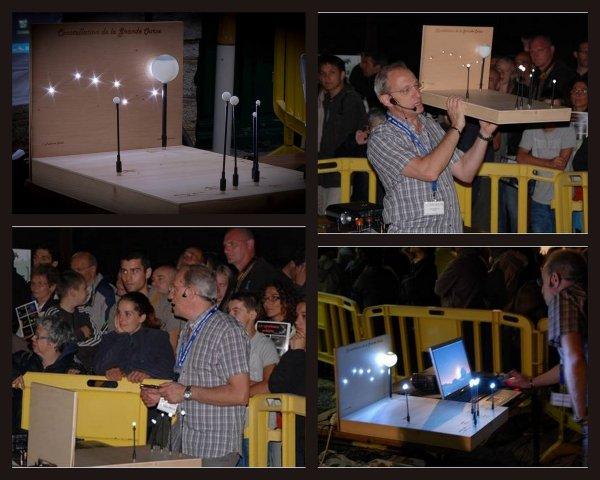 LA NUIT DES ETOILES à LOURDES avec L'ASTRO CLUB LOURDAIS : La réalisation de la maquette de la Grande Ourse. Fabrication de Jérôme, Paul et Vincent