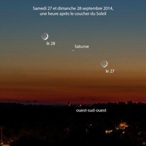 CONJONCTION LUNE SATURNE LE 27 ET 28 septembre 2014