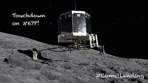 PHILAE le lander de ROSETTA est sur la comète !!!