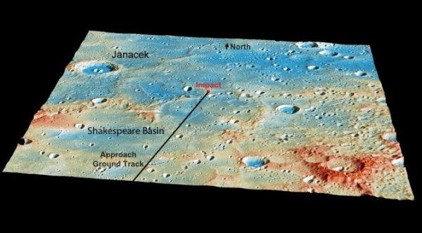 ASTRONOMIE INFO : LA SONDE MESSENGER S'EST BIEN ÉCRASÉ SUR MERCURE APRÈS ONZE ANS D'AVENTURE !! Partie de la Terre en 2004, Il a fallu sept ans à la sonde Messenger pour atteindre Mercure. Après 4103 orbites autour de Mercure, la sonde américaine Messenger s'est écrasée le jeudi 30 avril sur la première planète du Système solaire, y creusant un nouveau cratère de 16 m de diamètre environ. Depuis le 18 mars 2011, la sonde Messenger était satellisé autour de Mercure. En 4 années d'observations, Messenger a réalisé la cartographie complète de Mercure tout en étudiant la composition de sa surface, son champ magnétique ainsi que la structure de son exosphère. Cette mission planétaire a permis de mieux cerner la planète la moins connue du système solaire: Mercure. (Source NASA-JBF)