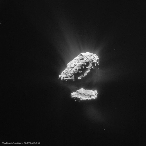 ROSETTA INFO DIRECT : VENDREDI 5 JUIN 2015 17h NOUVELLE IMAGE montrant l'activité croissante de la comète 67P/Churyumov–Gerasimenko Image du 23 mai 2015 (Source ESA-CNES-ROSETTA NAVCAM)