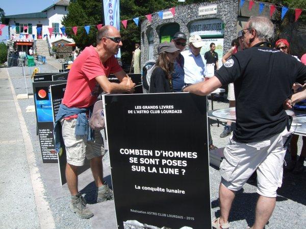 LA SEMAINE DE L'ASTRONOMIE c'est cette semaine du lundi 13 au vendredi 17 juillet de 14h à 17h au Pic du Jer à Jer à Lourdes... Retour en images. Reportage de Lucien :