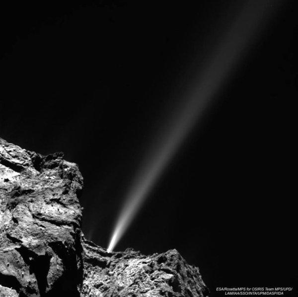 ROSETTA INFO DIRECT : MARDI 11 AOÛT 12h LE FEU D'ARTIFICE SUR TCHOURI : une courte colère de la comète 67 P / Churyumov-Gerasimenko a été capturé par la caméra OSIRIS de la sonde ROSETTA le 29 juillet dernier !