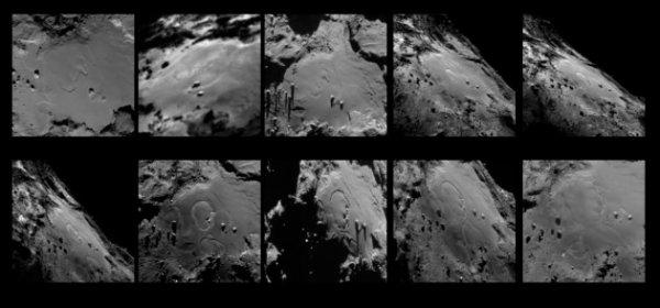 ROSETTA INFO DIRECT : MARDI 22 SEPTEMBRE 2015 21h Une nouvelle étude de photos prises par la caméra à angle étroit OSIRIS de ROSETTA entre mai et juillet 2015 révèle des changements spectaculaires sur la surface lmhotep, région de la comète 67/P Churyumov-Gerasimenko... Suivre les flèches !! (Source ESA-NASA)