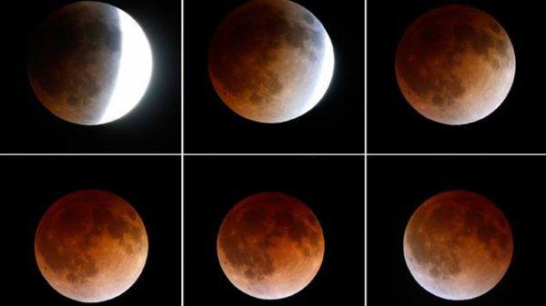 LES COULEURS DE L'ÉCLIPSE LUNAIRE DU 28 SEPTEMBRE 2015 : Les couleurs de la Lune éclipsée trahissent la composition de notre atmosphère : Les caractéristiques de notre biosphère rendent fascinante l'observation d'une éclipse lunaire. En effet, au moment ou la Lune rentre dans le cône d'ombre de la Terre, sa surface éclairée de front un peu plus tôt par le Soleil, change progressivement de teintes du début jusqu'à la fin de la totalité, offrant de délicats dégradés de couleurs Les poussières dans l'atmosphère terrestre teintent en rouge sombre le cône d'ombre de notre Planète que reflète la surface de la Lune, au cours de l'éclipse de cette nuit !
