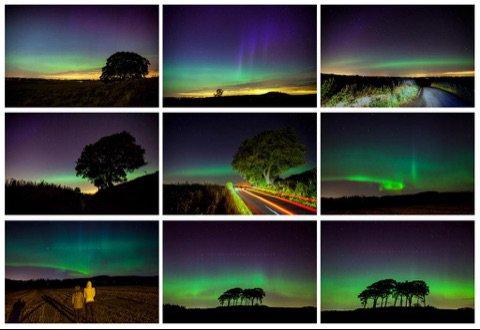 LES PREMIÈRES PHOTOS D'UNE NUIT D'AURORES BORÉALES !! En Écosse, Irlande, Islande...