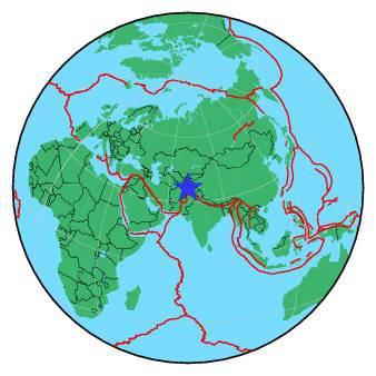 ALERTE SÉISME DANS LE MONDE : Ce lundi 26 octobre 2015 à 10h09 heure locale, la terre a tremblé en AFGHANISTAN,dans la région d'HINDU KUSH. L'épicentre du ce séisme d'intensité 7,5 sur l'échelle de Richter, et d'une profondeur de 215km, s'est produit à 43km au Sud de la ville de Jarm en Afghanistan. Ce tremblement de terre a été ressenti jusqu'à New Déli en Inde ! (Source ASTRO CLUB LOURDAIS et EMCS-SCM).
