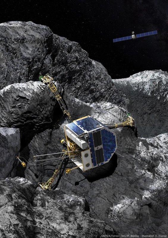 ROSETTA INFO DIRECT : MARDI 29 DÉCEMBRE 2015 : 12h30 L'IMAGE DU JOUR : Le robot PHILAE semble rester muet sur la comète 67P/Churyumov–Gerasimenko. Les dernières tentatives de reprise de contact sont toujours en cours. (Sources ESA-CNES)