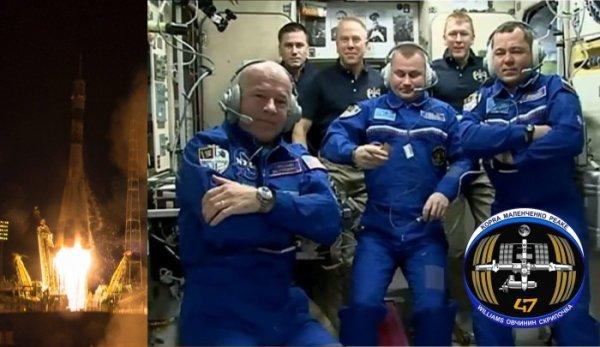ESPACE INFO : Ce vol Soyouz de l'agence spatiale russe Roscosmos s'inscrit dans la procédure de relève des équipages de la Station Spatiale Internationale (ISS) qui se déroule par moitié. Ainsi, le 2 mars dernier, 3 des 6 occupants (Kelly, Kornienko et Volkov) du complexe orbital sont revenus. Là-haut, restaient le Britannique Timothy Peake de l'Agence Spatiale Européenne (ESA), l'Américain Timothy Kopra de la NASA et le Russe Youri Malenchenko de Roscosmos arrivés le 15 décembre 2015 avec le Soyouz TMA-19M. Après 4 tours de Terre et environ 6 heures de vol, le TMA-20M d'Ovchinin, Skripochka et Williams s'est amarré à l'ISS. Une fois les vérifications d'usage accomplies, le sas a été ouvert et les 3 astronautes ont été accueillis par leurs collègues. L'Expédition 47 est ainsi désormais au complet avec 6 personnes à bord (Sources ESA-NASA-CE)