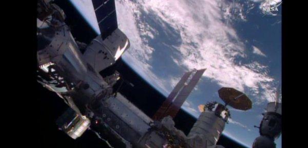 ESPACE INFO : LA CAPSULE DRAGON AMAREE A LA STATION SPATIALE INTERNATIONALE ! Le vaisseau spatial non habité Dragon de la société américaine SpaceX est arrivé dimanche sans encombre à la Station spatiale internationale (ISS), a indiqué la NASA. La capsule pressurisée, qui a été lancée de Cap Canaveral, en Floride, vendredi soir par le lanceur réutilisable, a été saisie par le bras télémanipulateur de la station, man½uvré par l'astronaute britannique Tim Peake, de l'Agence Spatiale Européenne (ESA), au-dessus du Pacifique à l'ouest d'Hawaï. Son amarrage aura ensuite lieu sur le module Harmony de la Station. Avec l'arrivée de Dragon, six vaisseaux spatiaux sont amarrés simultanément à l'ISS et ce pour la deuxième fois seulement dans l'histoire de la Station spatiale. Il y a ainsi déjà deux Soyouz et deux Progress russes ainsi que la capsule Cygnus, de la société américaine Orbital ATK arrivée à l'ISS le 26 mars pour également livrer des provisions et du matériel scientifique. Dragon transporte plus de trois tonnes de fournitures, nourriture et eau pour les six membres d'équipage de l'ISS, ainsi que des équipements et du matériel destinés à des expériences scientifiques, dont 20 souris. Celles-ci permettront d'étudier l'atrophie musculaire et la perte de densité osseuse en situation de microgravité. Dragon apporte également dans ses bagages la capsule gonflable de Bigelow Aerospace, le BEAM (Bigelow Expandable Activity Module) d'une masse de 1,3 tonne. Le BEAM est basé sur des concepts inventés par la Nasa dans les années 1990 et développés ensuite par la firme créée il y 15 ans par l'homme d'affaires Robert Bigelow.. (Sources ESA-NASA)