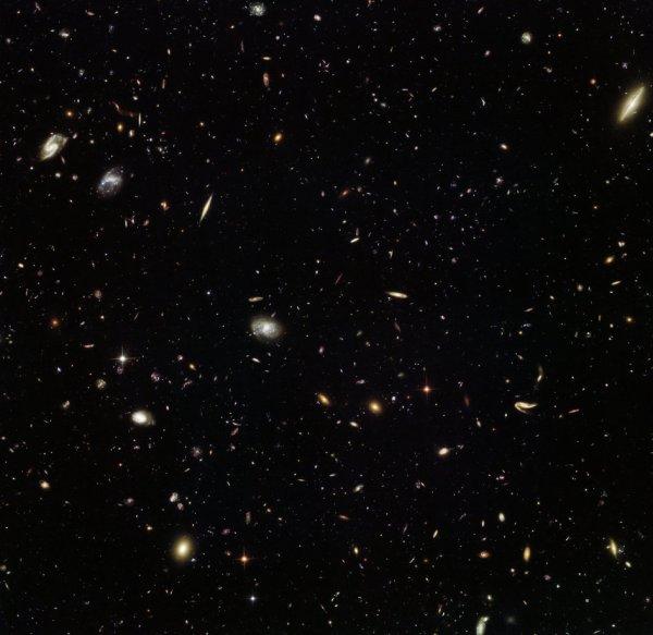 L'IMAGE DU JOUR : UNE COLLECTE GALACTIQUE !! Presque aussi profond que le Hubble Deep field, qui contient environ 10 000 galaxies, cette image incroyable du télescope spatial HUBBLE de la NASA-ESA révèle des milliers de galaxies colorées dans la constellation du Lion. Ce point de vue dynamique de l'Univers a été capturé dans le cadre de la campagne Frontier Fields, qui vise à étudier les amas de galaxies plus en détail que jamais, et d'explorer quelques-unes des galaxies les plus lointaines de l'Univers. Les amas de galaxies sont massifs. Ils peuvent avoir un impact énorme sur leur environnement, avec leur immense gravité et amplifier la lumière à partir d'objets plus éloignés. Ce phénomène, connu sous le nom de lentille gravitationnelle, peut aider les astronomes à voir des galaxies qui seraient autrement trop faibles, en aidant notre chasse pour les résidents de l'Univers primordial. (Source NASA-HUBBLE-ESA)