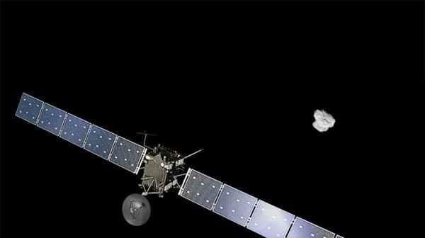 ROSETTA INFO DIRECT : DIMANCHE 3 JUILLET 2016 : 21h L'INFO DU JOUR (Source ESA-CNES) : Rosetta terminera le 30 septembre sa mission par une descente contrôlée jusqu'à la surface de sa comète. La distance entre la sonde et le Soleil et la Terre augmente de jour en jour, ce qui signe la fin de la mission. La sonde se dirige vers l'orbite de Jupiter, ce qui implique une réduction significative de la lumière du Soleil, qui permet de faire fonctionner la sonde et ses instruments. Si on considère également le vieillissement de la sonde et de ses charges utiles, qui endurent depuis plus de douze ans l'environnement hostile de l'espace, dont deux années à proximité d'une comète très poussiéreuse, Rosetta est en fin de vie. Après concertation en 2014 au sein de l'équipe scientifique, il a été décidé que Rosetta suivrait son atterrisseur Philae à la surface de la comète. Les dernières heures pendant la descente permettront à Rosetta de réaliser de nombreuses mesures uniques en leur genre et de prendre des photos très haute résolution. La collecte de ces données au plus près de la comète, rendue possible par cette exceptionnelle conclusion de la mission, permettra de maximiser les retombées scientifiques de Rosetta. Les communications stopperont quand la sonde atteindra la surface, et ce sera la fin des opérations, ce 30 septembre 2016 !!