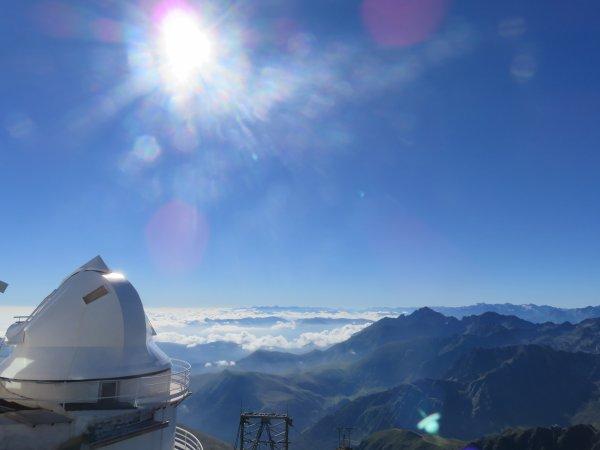 L'IMAGE DU JOUR : Un petit bonjour du Pic du Midi en mission d'observation solaire sur CLIMSO !