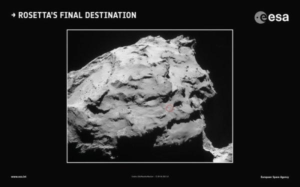 ROSETTA INFO DIRECT : VENDREDI 29 JUILLET 2016 : 23h15 L'INFO DU JOUR : Le module de communication de Philae avec Rosetta a été éteint ce 27 juillet 2016 à 11h, dans le cadre des préparations à la fin de la mission Rosetta. Fin juillet 2016, la sonde sera à environ 520 millions de km du Soleil. Afin de pouvoir continuer les opérations scientifiques et maximiser leur retour, il était devenu nécessaire de réduire la consommation électrique en éteignant les composants non-essentiels de la charge utile. L'atterrisseur était considéré depuis plusieurs semaines comme étant en hibernation perpétuelle, mais l'ESS avait été laissé allumé au cas très improbable où Philae reprenne contact. Aucun signal de l'atterrisseur n'a été reçu depuis juillet 2015 malgré le fait que Rosetta soit descendue à moins de 10km d'altitude de la surface de la comète 67P/Churyumov-Gerasimenko. Le site de l'impact contrôlé de la sonde Rosetta sur la comète, qui mettra fin à la mission le 30 septembre 2016, vient par ailleurs d'être dévoilé. La sonde ciblera Ma'at, une région de puits actifs sur le petit lobe de la comète. Cette région a été choisie pour son potentiel scientifique et en tenant compte des contraintes opérationnelles d'une descente réussie. (Sources ESA-CNES)