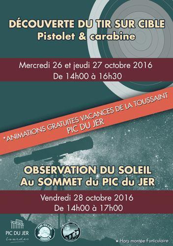 OBSERVATION SOLAIRE AU PIC DU JER ce VENDREDI 28 OCTOBRE au sommet du PIC DU JER de 14h à 17h avec des jeunes de l'ASTRO CLUB LOURDAIS.