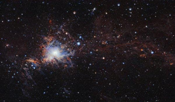 L'IMAGE ASTRO DU JOUR : La nébuleuse M 42, dans la constellation d'Orion, a été photographiée en infrarouge et en haute résolution par le télescope Vista.