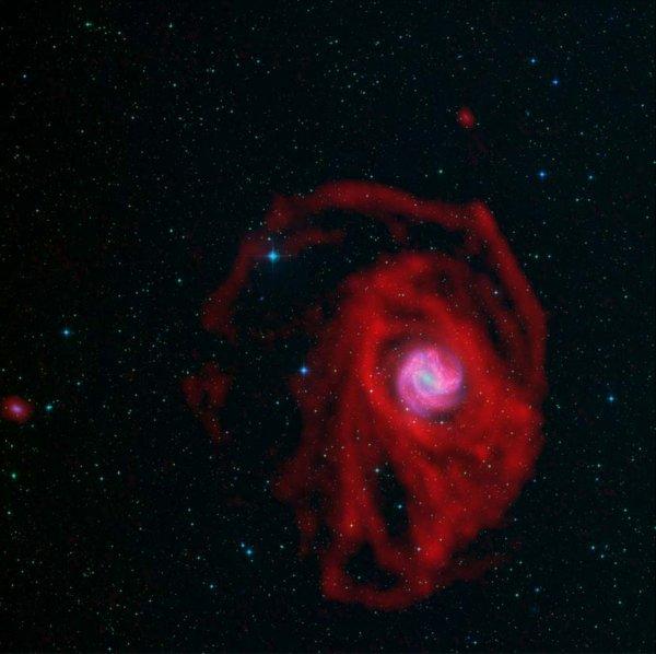 l u0026 39 image du jour   les nuages d u0026 39 hydrog u00c8ne de la galaxie m83  magnifique galaxie spirale  m83 a