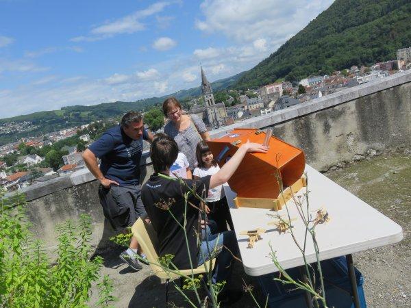 LA SEMAINE DE L'ASTRONOMIE ce mardi 25 juillet au château fort, retour en images sur les ateliers et l'observation solaire...