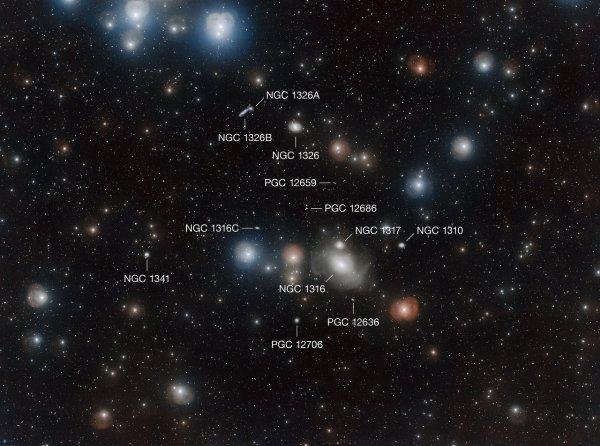 L'IMAGE ASTRO DU JOUR : Le VLT Survey Telescope de l'ESO vient de produire une superbe image de l'amas de galaxies du Fourneau, à 60 millions d'années-lumière. Cette image de 2,3 milliards de pixels est l'une des plus grandes jamais diffusées par l'Observatoire européen austral (ESO). Elle montre l'amas du Fourneau, qui rassemble toute une collection de galaxies de formes et de couleurs diverses. L'image a été réalisée grâce au VLT Survey Telescope (VST), un instrument de 2,6 m de diamètre équipé d'une caméra de 268 millions de pixels. Le champ étendu est de quatre fois la surface de la Lune sur le ciel ! (Sources ESO-VLT-C&E)
