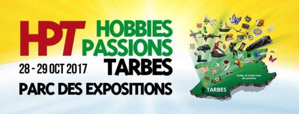 """LA NOUVELLE FOIRE """"HOBBIES PASSION DE TARBES"""" c'est samedi 28 et dimanche 29 octobre 2017 de 10h à 19h, au Parc des Expositions de Tarbes, avec la présentation des activités de l'ASTRO CLUB LOURDAIS par les jeunes membres du club. Nous vous y attendons pour vous présenter une partie de notre dernière exposition sur la LUNE !"""