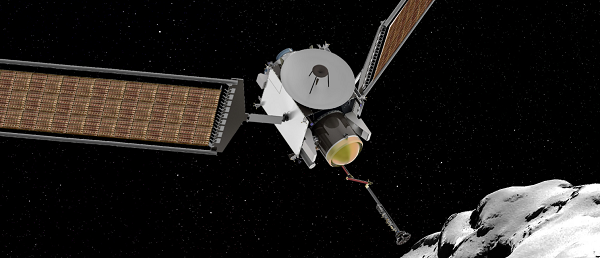 LES INFOS ASTRO DU JOUR : La NASA a dévoilé ce 20 décembre 2017 les deux finalistes de son programme d'exploration planétaire New Frontiers. Vers 2025, l'agence américaine enverra soit un drone explorer Titan (Dragonfly) lune de Saturne, soit une sonde collectrice d'échantillons vers la comète Churyumov-Gerasimenko (Caesar). Choix final à l'été 2019 ! (Dessins de Dragonfly, un drone pour explorer Titan, et de Caesar prélève un échantillon de la comète Churyumov-Gerasimenko. (Sources NASA-C&E)