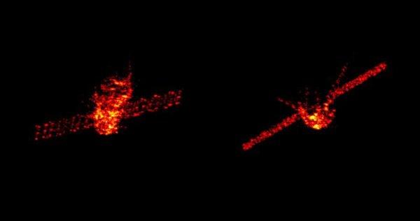 L'IMAGE & L'INFO ASTRO DU JOUR : DES NOUVELLES DE LA STATION SPATIALE CHINOISE TIANGONG-1 ! Ces images radar acquises la semaine dernière par le système de radar Tracking and Imaging montre la station à une altitude d'environ 270 km. Dans les prochains jours, elle devrait rentrer dans l'atmosphère après la fin de sa vie opérationnelle. La majeure partie de l'engin devrait brûler. L'ESA organise une campagne pour suivre sa rentrée, menée par le Comité de coordination inter-agences sur les débris spatiaux (IADC). Les 13 agences spatiales de l'IADC utilisent cet événement pour mener leur campagne annuelle de test de rentrée, au cours de laquelle les participants mettront en commun leurs prédictions de la fenêtre temporelle, ainsi que leurs données de suivi respectives obtenues par radar et autres sources. L'objectif est de vérifier, croiser et améliorer la précision de la prédiction pour tous les membres. La station spatiale mesure 12 m de long et 3,3 m de diamètre. Sa masse au lancement est de 8.506 kg. Elle est inoccupée depuis 2013 et il n'y a pas eu de contact depuis 2016. L'engin est maintenant à environ 200 km d'altitude, dans une orbite qui va probablement la désintégrer entre le matin du 31 mars et le petit matin du 2 avril. En raison des grandes variations dans la dynamique atmosphérique et le processus de désintégration, entre autres facteurs, la date, l'heure et l'empreinte géographique de la rentrée ne peuvent être prévues qu'avec de grandes incertitudes. Dans l'histoire du vol spatial, aucune victime de chute de débris spatiaux n'a jamais été confirmée. (Source ESA)
