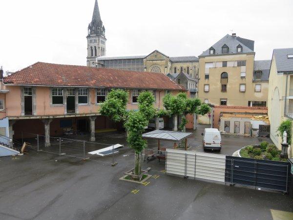 LA PHOTO DES TRAVAUX du nouveau collège Saint Joseph Peyramale, ce 13 juin 2018.