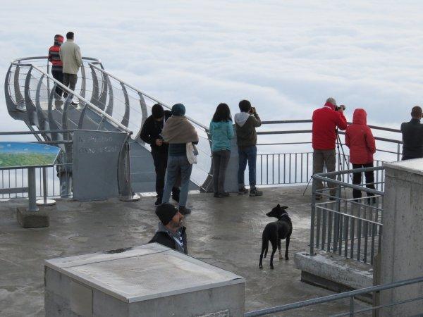 MISSION AU PIC DU MIDI : Les insolites du pic : un chien au sommet, le site, le ponton… et un orage