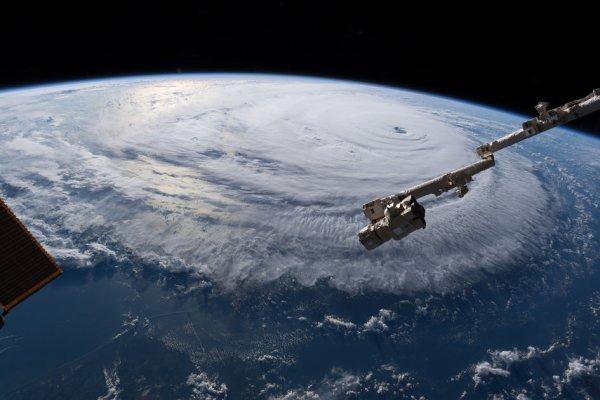 LES IMAGES & L'INFO ASTRO DU JOUR : DERNIÈRES IMAGES DE L'OURAGAN FLORENCE, prise par l'astronaute de l'ESA Alexander Gerst depuis la Station Spatiale Internationale. (Sources ESA-NASA-ISS)
