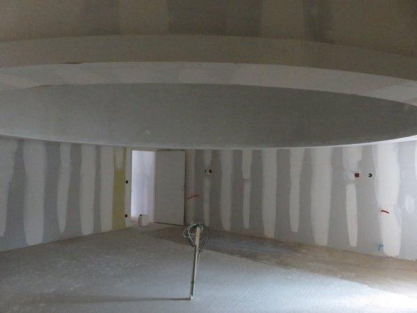 LE POINT SUR LES TRAVAUX du nouveau collège Saint Joseph Peyramale, photos du 3 Avril 2019, avec le futur pôle « ESPACE ASTRONOMIE » de l'ASTRO CLUB LOURDAIS… La COUPOLE de 5 mètres de diamètre du FUTUR PLANÉTARIUM vient d'être lissée et l'échafaudage enlevé, et la salle d'astronomie en images…