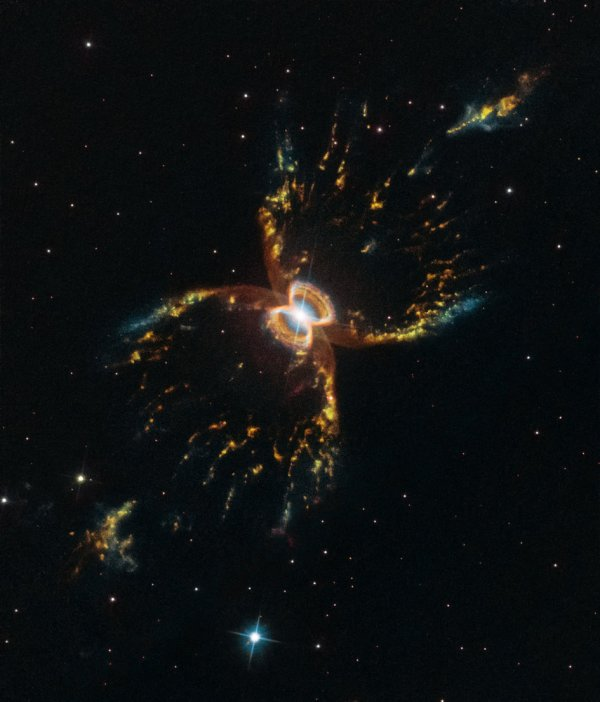L'IMAGE & L'INFO ASTRO DU JOUR : NÉBULEUSE DU CRABE ! Cette incroyable image de la nébuleuse Crabes du Sud en forme de sablier a été prise pour marquer le 29e anniversaire du télescope spatial HUBBLE. La nébuleuse, créée par un système d'étoiles binaires, est l'un des nombreux objets que HUBBLE a démystifié tout au long de sa vie productive. Cette nouvelle image ajoute à notre compréhension de la nébuleuse et démontre les capacités continues du télescope. (Sources NASA-HUBBLE-ESA)