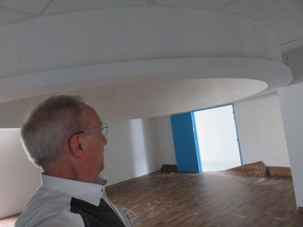 LE POINT SUR LES TRAVAUX du nouveau collège Saint Joseph Peyramale, photos du 10 Mai 2019, de l'ESPACE ASTRONOMIE de l'ASTRO CLUB LOURDAIS… Le sol en chantier de la COUPOLE de 5 mètres de diamètre du FUTUR PLANÉTARIUM et de la salle d'astronomie. La Terrasse d'observation et l'extérieur du bâtiment en images…