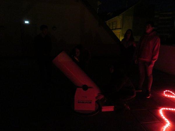 LES IMAGES DE LA TOUTE PREMIÈRE OBSERVATION avec les Terminales et les Étudiants, depuis la terrasse du club... enfin !