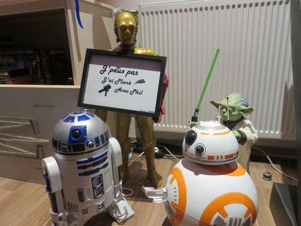 L'IMAGE & L'INFO ASTRO DU JOUR : J'ai reçu un très beau cadeau, qui m'a énormément touché ! Je l'ai confié à C-3PO ! Merci beaucoup Lucas ! Bonne semaine à tous et toutes...