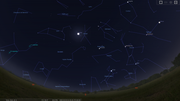 CONFINEMENT, RÊVONS D'ESPACE : Il se passe toujours quelque chose dans le ciel. Il suffit de savoir où et quand regarder ! Et c'est ce soir et demain soir, observer bien en direction de l'Ouest (pour les Lourdais au dessus du Béout) la planète Vénus passe devant l'amas ouvert des Pléiades. Vous ne pouvez pas la manquer, c'est de loin l'astre le plus brillant du ciel en dehors de la Lune. Quant aux Pléiades, ce groupe de jeunes étoiles nées ensemble, est le plus bel amas du ciel visible à l'½il nu. Sans instrument, on peut distinguer sept de ses étoiles. Mais dès que l'on pointe des jumelles vers lui, c'est une véritable plongée dans les étoiles, elles se montrent par dizaines. Restez bien chez vous, et prenez soin de vous et de vos proches.