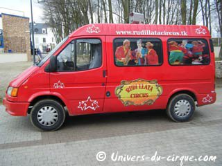 Camion affichage Du Rudi Llata Circus !