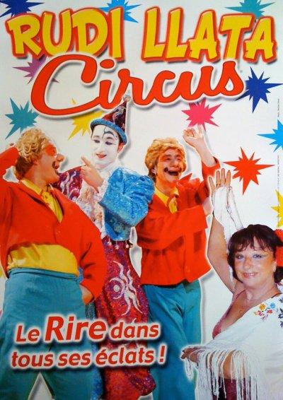 Affichette Rudi Llata Circus
