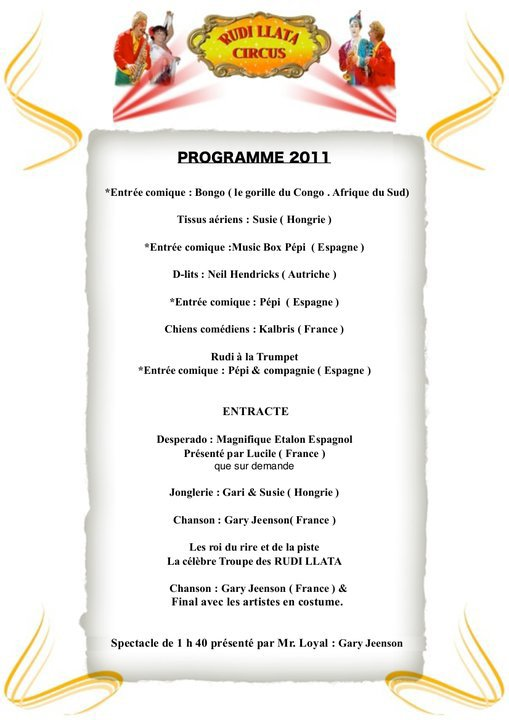 Programmes Spectacle !