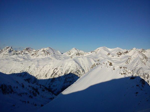 Panorama sur les Alpes