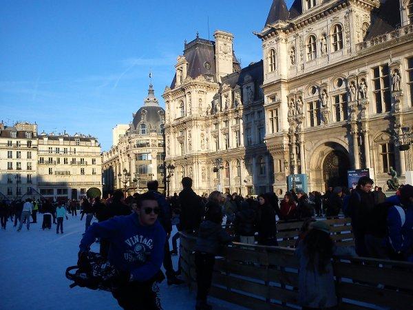 Scènes hivernales à Paris
