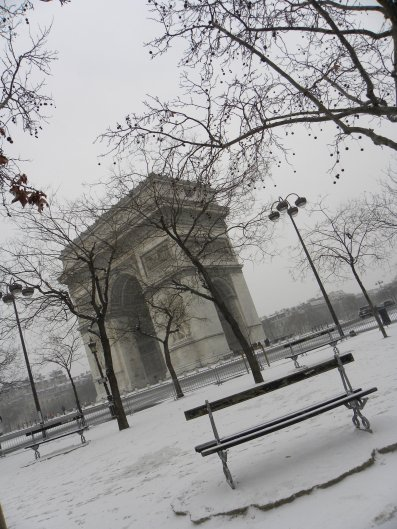 Paname sous la neige
