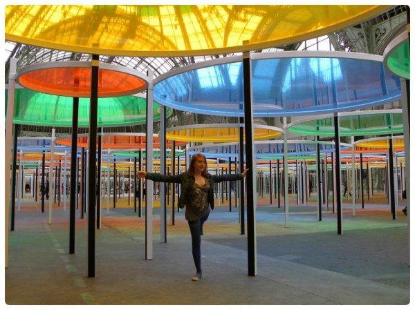 Daniel Buren au Grand Palais: kaleïdoscope et jeux d'enfants