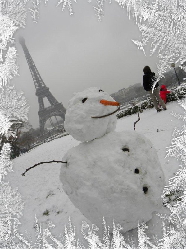 Le charme de l'hiver... Paname sous la neige