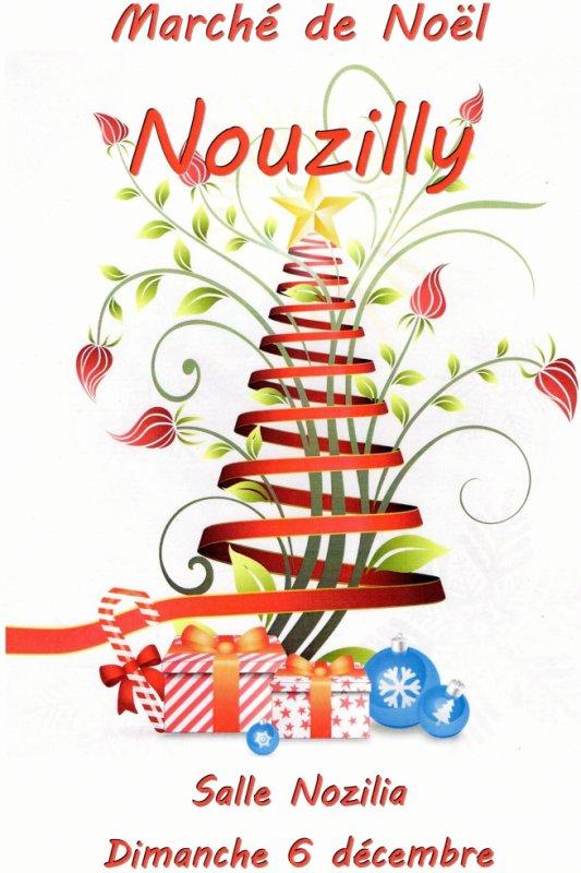 Voilà l'affiche du marché de Noël de NOUZILLY