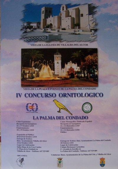 IV Concurso Ornitológico, La Palma del Condado. 2010