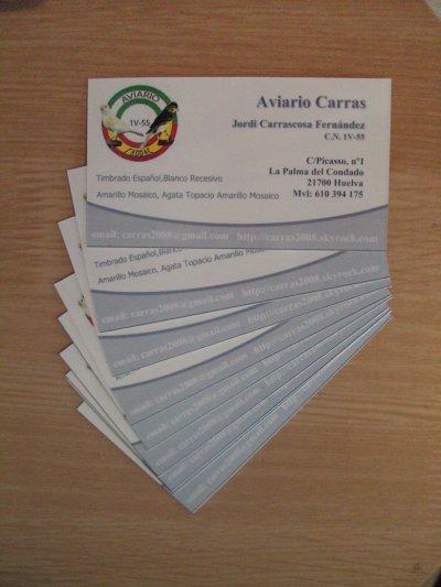 Próximamente se realizarán tarjetas de visita por pedido